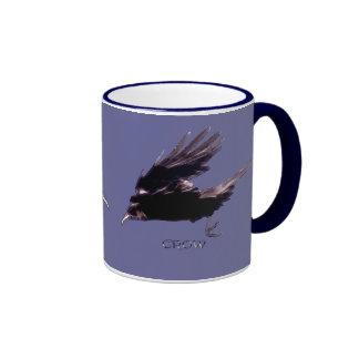 Cuervo-amantes Drinkware del cuervo del vuelo Tazas De Café