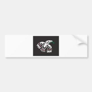 Cuervo blanco pegatina de parachoque