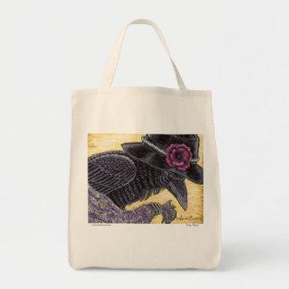 Cuervo bonito - tote bolsas de mano