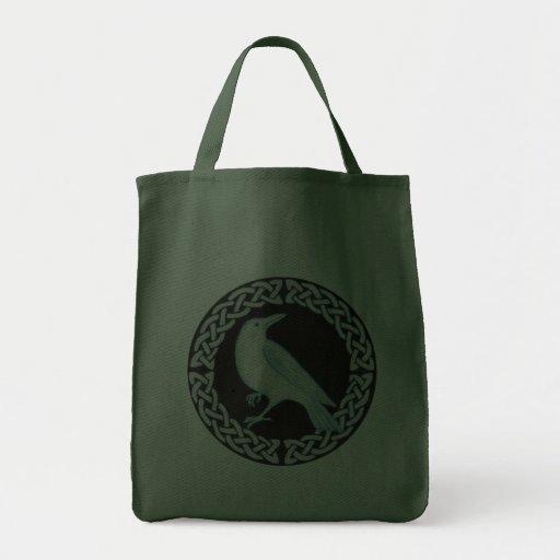 Cuervo céltico bolsa de mano