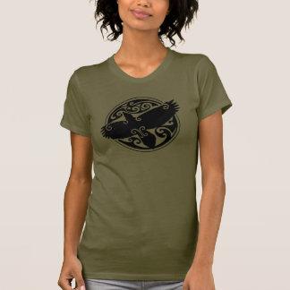 Cuervo céltico camisetas