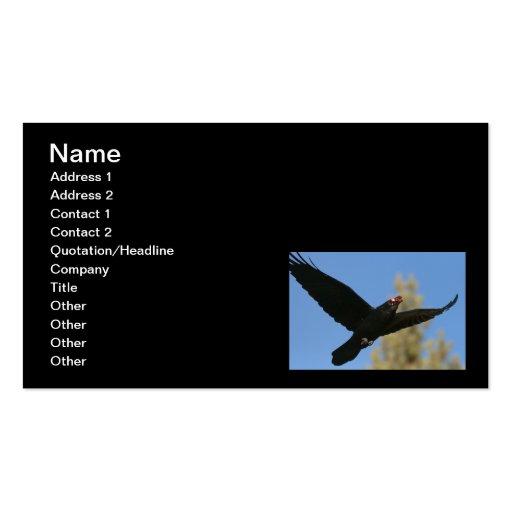 Cuervo con el bisonte tarjetas de visita
