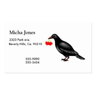 Cuervo con las bayas tarjetas de visita