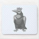 Cuervo coronado tapetes de ratón