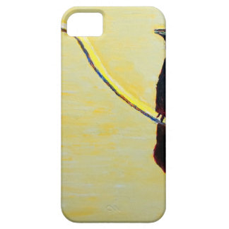 Cuervo de cacareo en un poste ligero iPhone 5 Case-Mate fundas