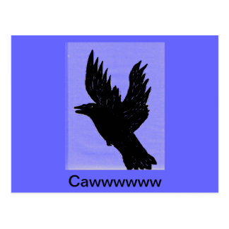 Cuervo de Cawwing Postales