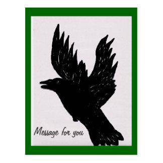 Cuervo de Cawwing Tarjetas Postales