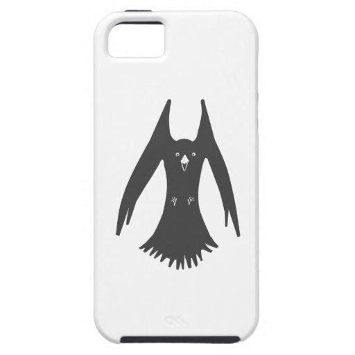 Cuervo de cernido grande en productos múltiples iPhone 5 funda