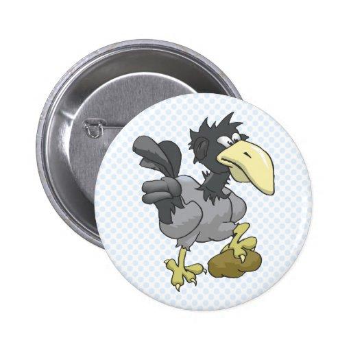 Cuervo de Crowlina Pin Redondo 5 Cm