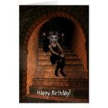 Cuervo de hadas de DarkWolf del duende el feliz cu Tarjeta De Felicitación