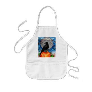 Cuervo de Halloween Delantal Infantil