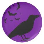 Cuervo de Halloween Plato