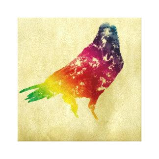 Cuervo de la acuarela en lona lienzo envuelto para galerías
