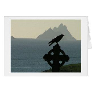 Cuervo de la bahía del St Finians con Skelligs Tarjeta Pequeña