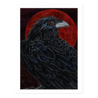 Cuervo de la luna de la sangre postal