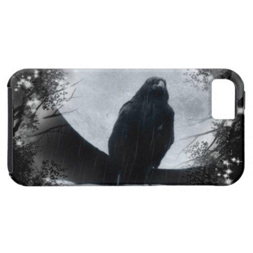 Cuervo de la luna iPhone 5 Case-Mate fundas