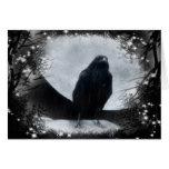 Cuervo de la luna tarjeta de felicitación