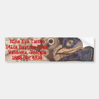 cuervo de la pegatina para el parachoques del tatu pegatina para auto