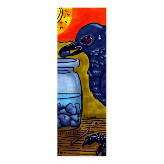 Cuervo de la perseverencia tarjetas de visita mini
