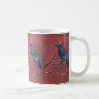Cuervo de medianoche tazas de café