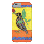 Cuervo de Oaxacan con el rosa rojo Funda De iPhone 6 Barely There