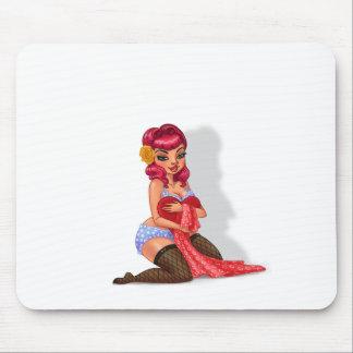 Cuervo de Raylene - modelo modelo cabelludo rosado Alfombrilla De Raton