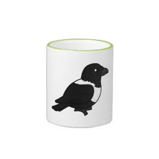 Cuervo de varios colores de Birdorable Taza A Dos Colores