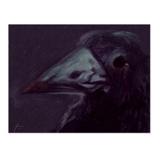 Cuervo dejado tarjeta postal