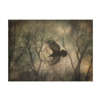 Cuervo del arbolado lona estirada galerías