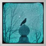 Cuervo del azul Nevado Impresiones