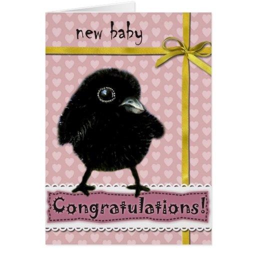 Cuervo del bebé felicitación