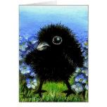 Cuervo del bebé tarjeta