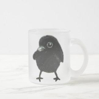Cuervo del bebé taza de cristal