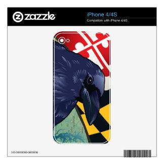 Cuervo del ciudadano, Maryland nunca más Calcomanías Para El iPhone 4S
