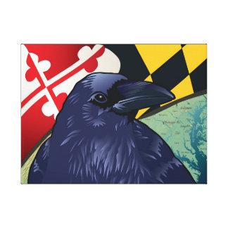 Cuervo del ciudadano, Maryland nunca más Impresión En Lienzo Estirada
