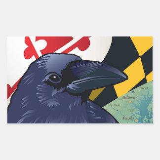 Cuervo del ciudadano, Maryland nunca más Pegatina Rectangular