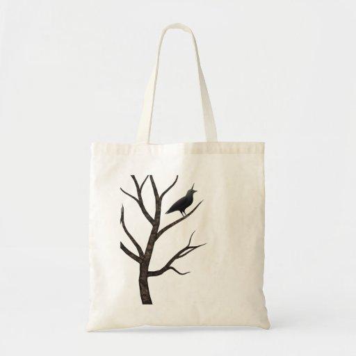 cuervo del crowicorn en unicornio del árbol bolsas