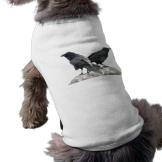 Cuervo del cuervo playera sin mangas para perro
