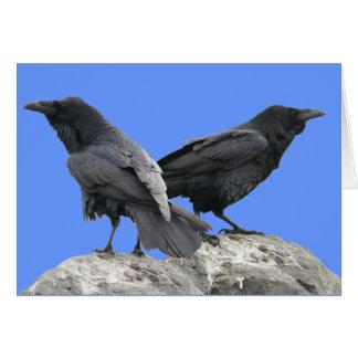 Cuervo del cuervo tarjeta de felicitación