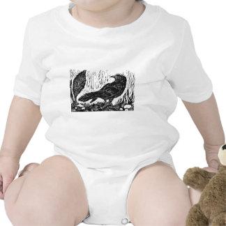 Cuervo del día lluvioso -- impresión de bloque trajes de bebé