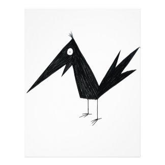 Cuervo del dibujo animado flyer a todo color