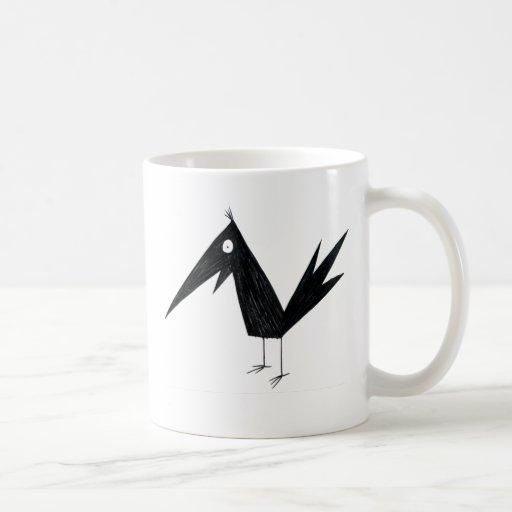 Cuervo del dibujo animado taza