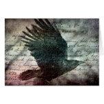 Cuervo del Grunge del Poe, cumpleaños Tarjeta De Felicitación