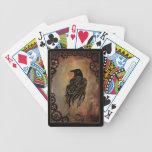 Cuervo del mecanismo baraja cartas de poker
