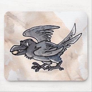 Cuervo del oro del tonto alfombrillas de raton