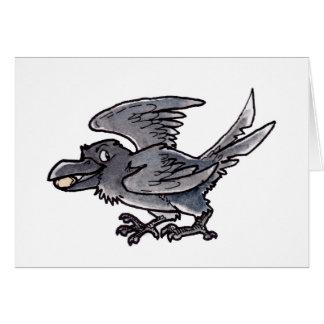 Cuervo del oro del tonto tarjeta de felicitación
