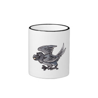 Cuervo del oro del tonto taza de café