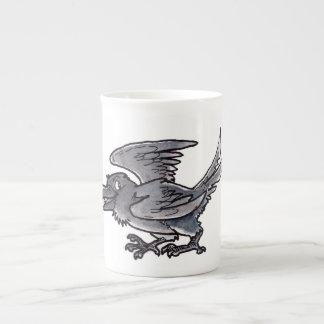 Cuervo del oro del tonto tazas de china