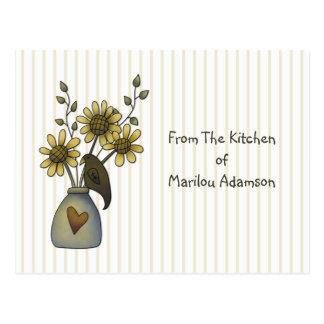 Cuervo del país y tarjetas de la receta de los gir tarjetas postales