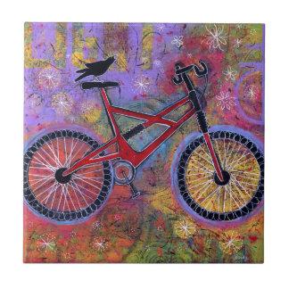 Cuervo del placer y teja puros de la bicicleta